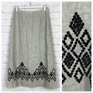 Ann Taylor Sequined Wool Silk Blend Midi Skirt 4